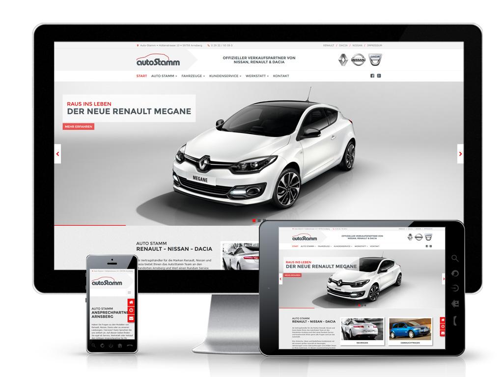 Auto Stamm - Web-Relaunch