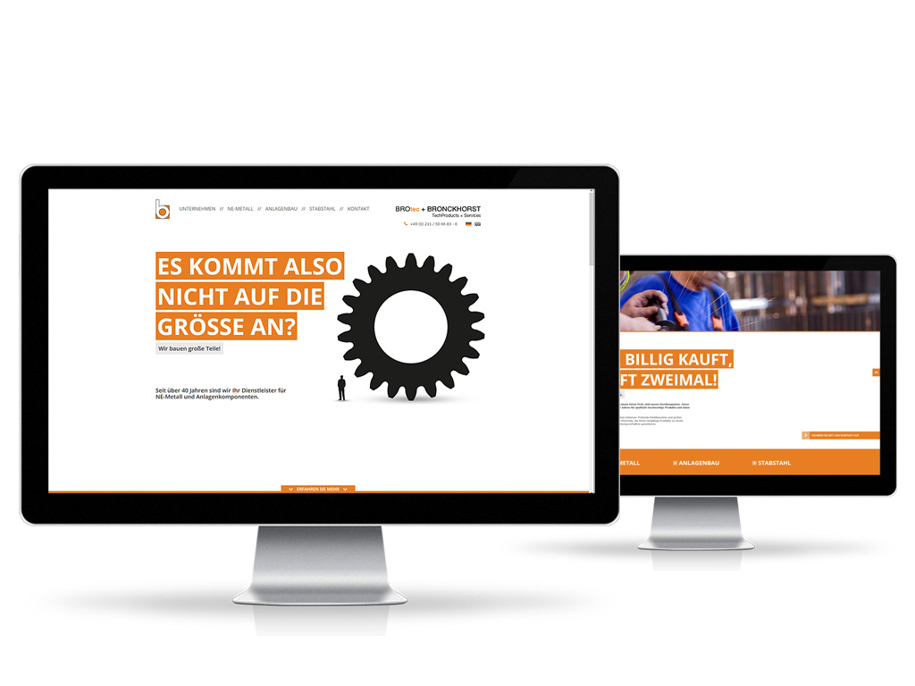 Bronckhorst GmbH - Webpräsenz
