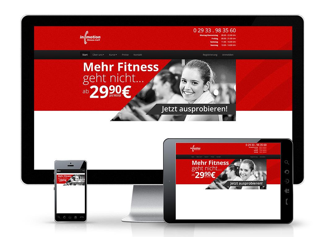 inmotion fitness-treff - Webpräsenz