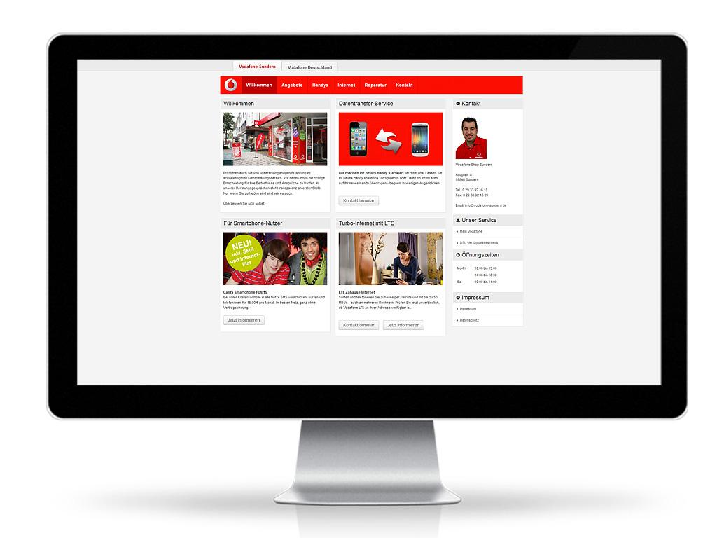 Vodafone, Filiale Sundern - Individuelle Webpräsenz